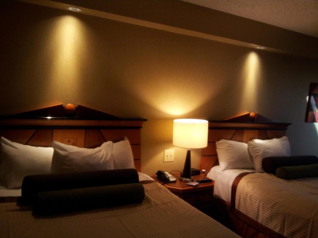 Suíte no Luxor Hotel.
